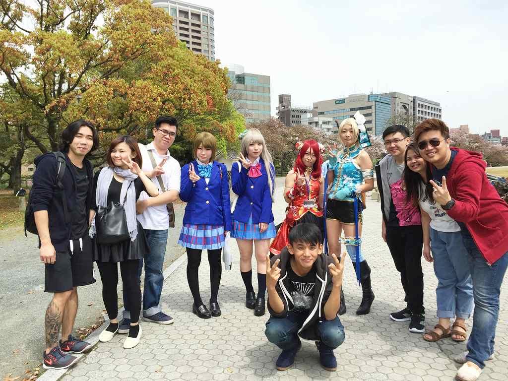 Friendly people in Fukuoka