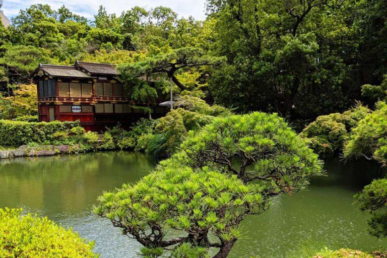 The gardens in Kobe