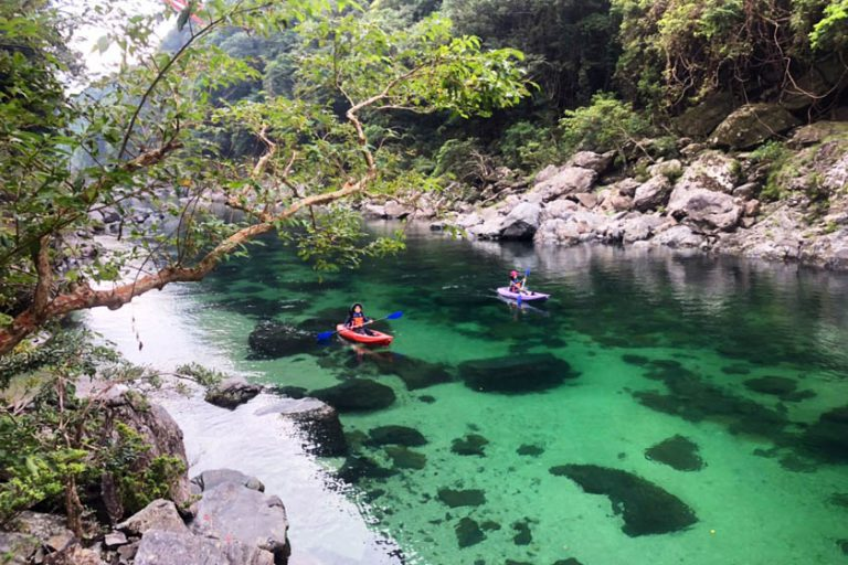 Yakushima is not only for trek but river kayaking!